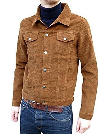 retro tabakbeigebraun, Kord, western jacket 60er70er Jahre Gr. s, m, l, xl, xxl