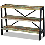 Festnight Reclaimed Wood Sideboard with 3 Shelves and Steel frame