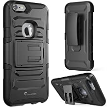 iPhone 6s Plus Case ,i-Blason Prime [Kickstand] Apple iPhone 6 Plus Case (5.5) [Heavy Duty] [Dual Layer] Combo Holster Cover [Belt Clip] (Black)