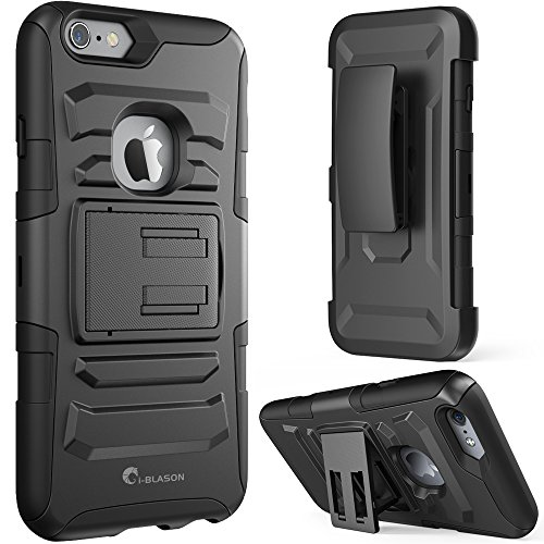 i-Blason Prime [Kickstand] Apple iPhone 6 Plus Case (5.5) [Heavy Duty] [Dual Layer] Combo Holster Cover [Belt Clip] (Black)
