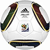 adidas WC 2010 Repliqué Soccer Ball, White/Black/Pure Yellow, 5