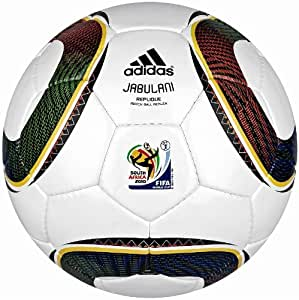 adidas WC 2010 Repliqué Soccer Ball, White/Black/Pure Yellow, 4