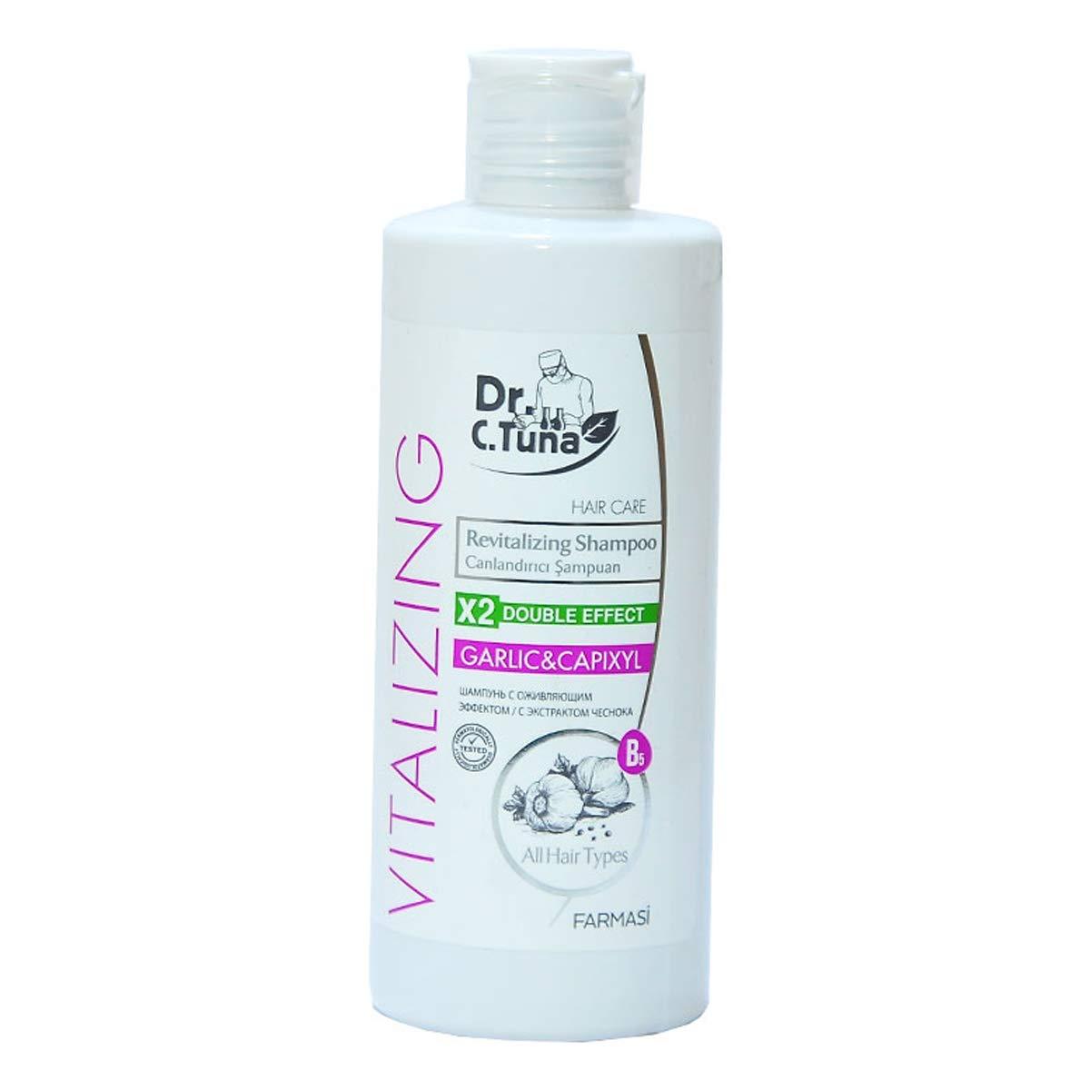 Dr C Tuna Vitalizing Garlic & Capixyl Shampoo 225 ml