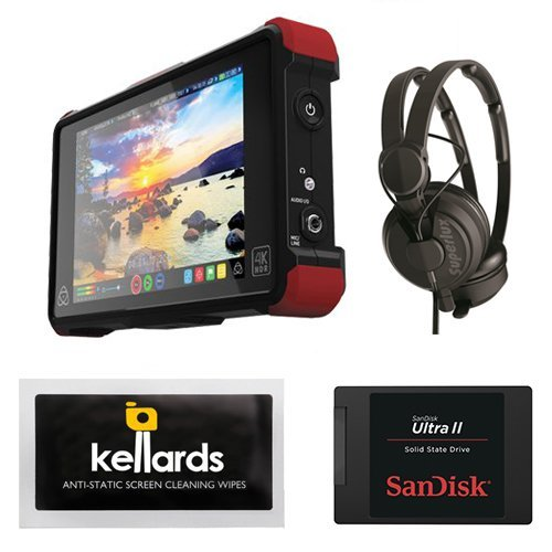 Atomos Ninja Flame 7'' 4K HDMI Recording Monitor Bundle With SanDisk Ultra II 240GB Solid State Drive & Superlux HD-562 Professional Headphone by Atomos