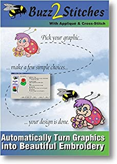 buzz 2 stitches software automatically turn graphics into embroidery designs