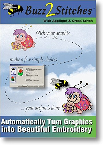 Buzz 2 Stitches Software Automatically Graphics Embroidery product image