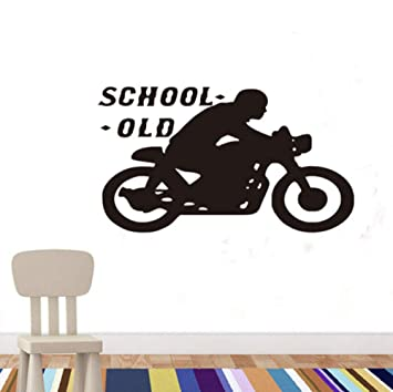 Old School Cafe Racer Vinilo Pegatinas De Pared