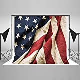 Maijoeyy 7ftx5ft Old American Flag Photography Backdrop for Memorial Day 4th of July Photo Backgrounds Backdrops 437881657