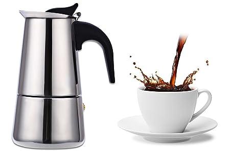 Cafetera moka de acero inoxidable con filtro para café y ...