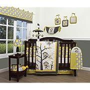 GEENNY Boutique Baby 13 Piece Nursery Crib Bedding Set, Monkey Go Happy