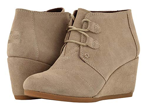 (TOMS Desert Taupe Suede 10012956 Kala Booties Women's Size)