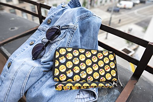 TC Women Emoji Wallet Purse Soft Polyester Clutch for Girls by TC (Image #4)