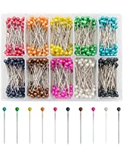 Sewing Pins VAPKER 36 mm 1000 Pcs Pearlized Head Quilting Pins Floral Pins for Floral Deco, Crafting, Sewing 10 Colors Sew Pin