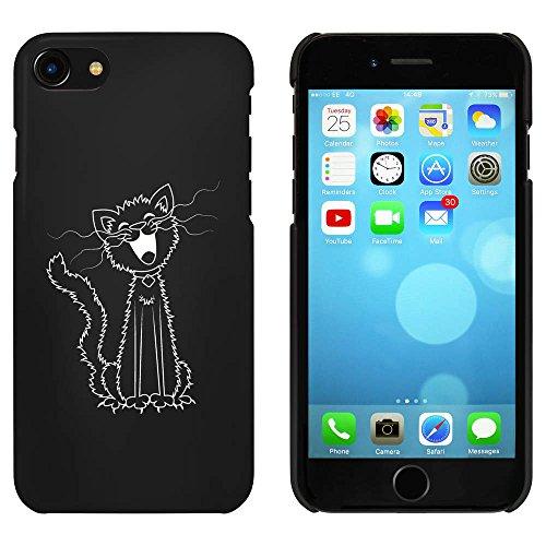 Noir 'Chat Chantant' étui / housse pour iPhone 7 (MC00074809)