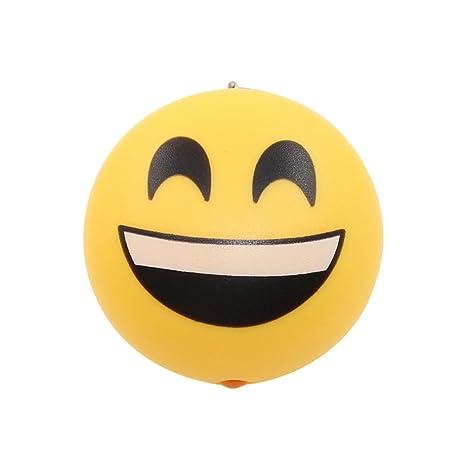 YOSEMITE Smile Emoji Llavero Linterna LED Llavero con bolsa ...