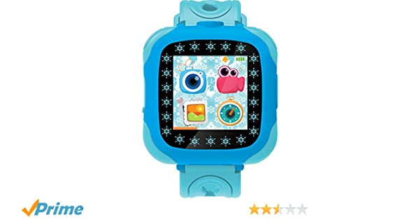Disney Frozen- Reloj, cámara smartwatch, Color Azul (Lexibook DMW100FZ)