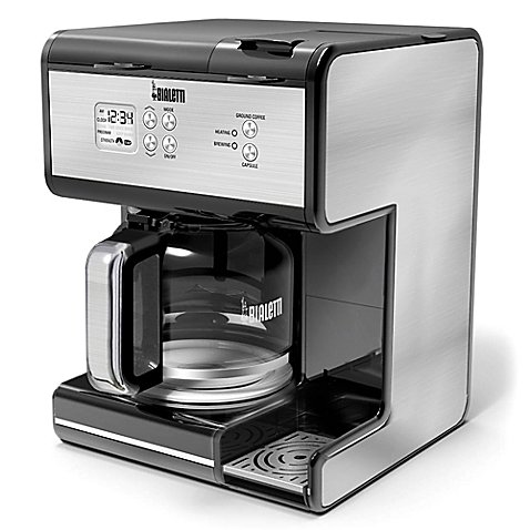 Gorgeous Stainless Steel Construction Bialetti Triple Brew Coffee Maker by Bialetti