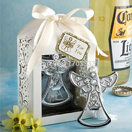 Bottle Opener - Wholesale 50pcs Lot Wedding Favors Angel Design Bottle Opener Party Supplier Baby Shower Baptism - Clip Vintage Potter Rabbit Holder Beer Elephant Oxo Jack Harley -