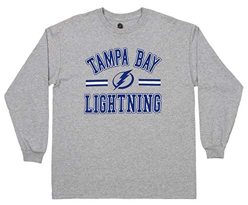 Outerstuff NHL Youth Boys Tampa Bay Lightning Victory Game Long Sleeve Tee, Small