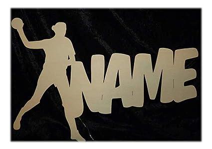 """508d5b4333 Schlummerlicht24 3d Led Deko-Lampe""""Handball Frau Mädchen"""" mit  Name, Geschenk für"""