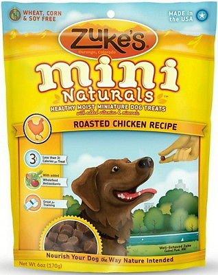 Zukes Mini Naturals Bite - Mini Naturals Moist Miniature Zuke's Dog Treats Chicken 6oz