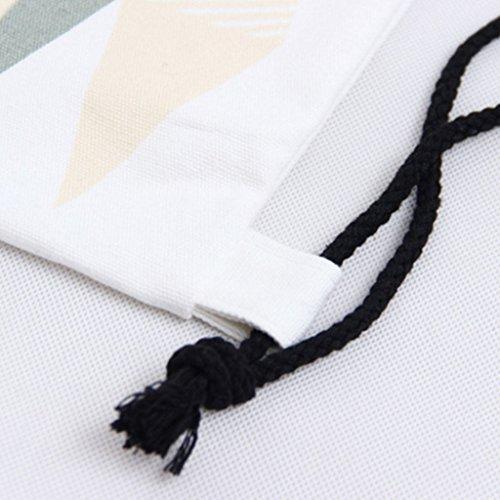 PHILNA12creative coulisse borsa da palestra borsa zaino in tela PE geometrico stampato