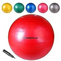 ScSPORTS Gymnastikball Sitzball, Rot, 65 cm, 10000396