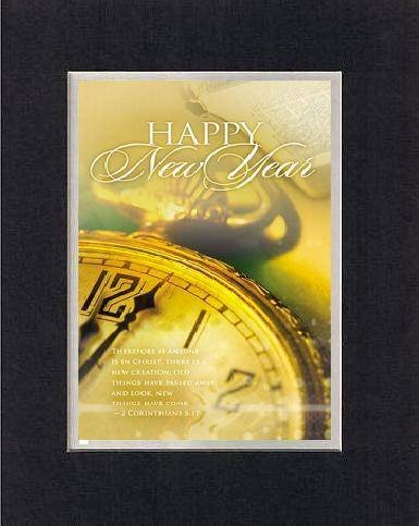happy new year 2 corinthians 517 8 x 10 inches biblical