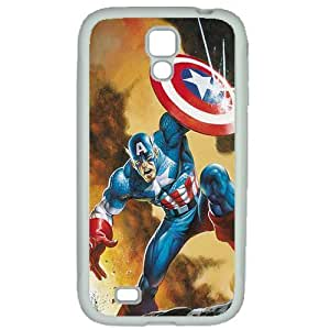 S4 case ,Samsung Galaxy S4 case ,fashion durable White side design for Samsung Galaxy S4,Rubber material phone cover ,Designed Specially Pattern with Captain America. by mcsharks