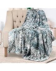 Everlasting Comfort Luxe deken van imitatiebont, super zacht, pluizig, warm, gezellig, pluche, fuzzy, dik, groot - voor bank, bank, woonkamer of bed, herfst- en winteraccessoires - 127x165 cm