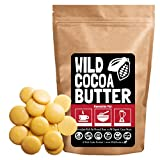 Raw Organic Cocoa Butter, Wild Cacao Butter, 100% Organic, Single-Origin, Unrefined, Non-Deodorized, Food Grade Mixed Form: Wafer or Cube (8 ounce)