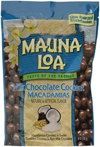 Mauna Loa Macadamias, Milk Chocolate Coconut, 10 Ounce Bag