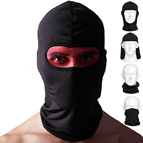 [Ailegou Balaclava Ski Mask Multipurpose Face Mask (2 Pack) Windproof Versatile Sports / Casual Full Face Motorcycle Mask for Riding,Skiing,Snowboarding,Trekking and ect for Men and] (Halloween Goggles)