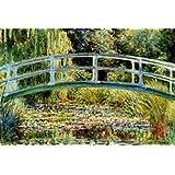 Le Pont Japonais a Giverny Poster Print by Claude Monet, 92x61 cm