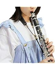 Rochix Clarinet Black Neck Strap,Super fiber,Metal Hook,Musical Instruments Accessories Parts
