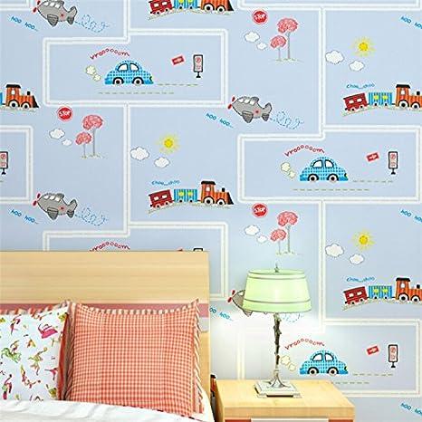 MDDW Kinder Zimmer Normalpapier Grün Kindergarten Für Jungen Und Mädchen  Schöne Karikatur Auto Tapete Voll Tapetenshop: Amazon.de: Küche U0026 Haushalt