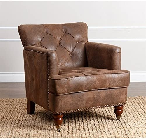 Abbyson Living Misha Tufted Fabric Accent Chair