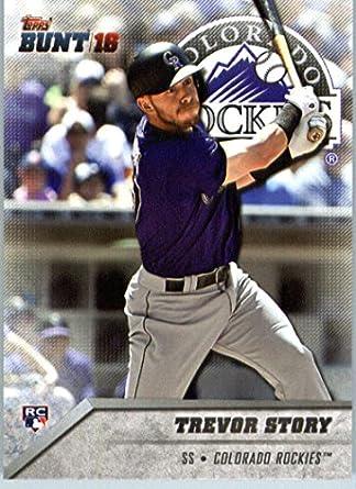 a428ad94cf59c Amazon.com: 2016 Topps Bunt Baseball (Physical) #59 Trevor Story RC ...