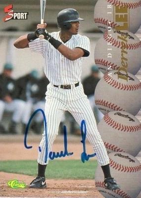 (Autograph 120153 San Diego Padres 1994 Classic 5 Sport Rookie Derrek Lee Autographed Baseball Card)