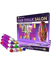 Desire Deluxe Hår Chalk presenter för flickor, hårkritor för hårfärgning leksak för jul, 10 tvättbara hårfärgningspenna, för karneval, för barn i åldern 3 4 5 6 7 8 9 11 år