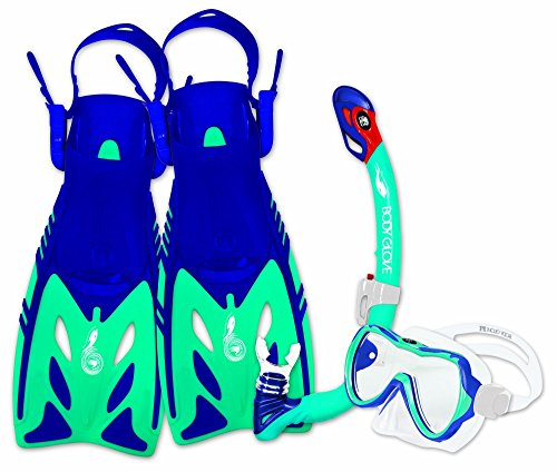 Body Glove Youth JMC Lucent Mask/Snorkel & Fin Set, Small/Medium