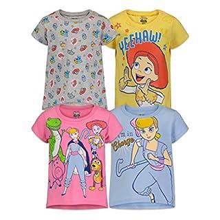 Disney Toy Story Bo Peep Jessie Toddler Girls 4 Pack Short Sleeve T-Shirts 5T