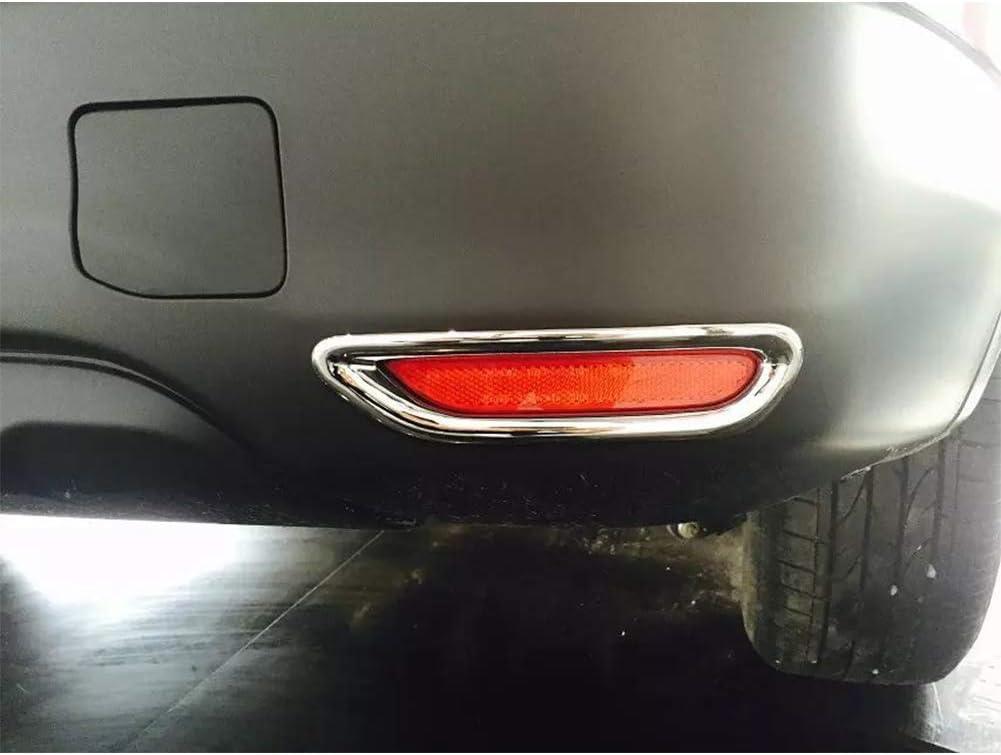 Elegante Juego de 2 Piezas para Nissan Qashqai J11 2014 ABS Cromado Reflector de luz antiniebla Trasera Cubierta de l/ámpara calcoman/ía decoraci/ón Recortar Accesorios