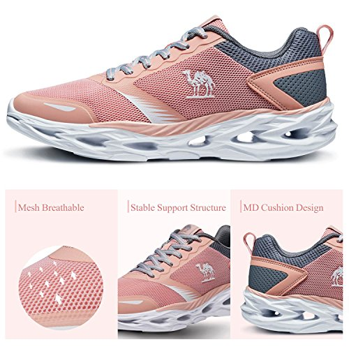 Camel Women's Trail Running Shoes, Lightweight Shockproof Fashion Athletic Sneakers for Gym Outdoor Sports Pink Size 7 by Camel (Image #4)