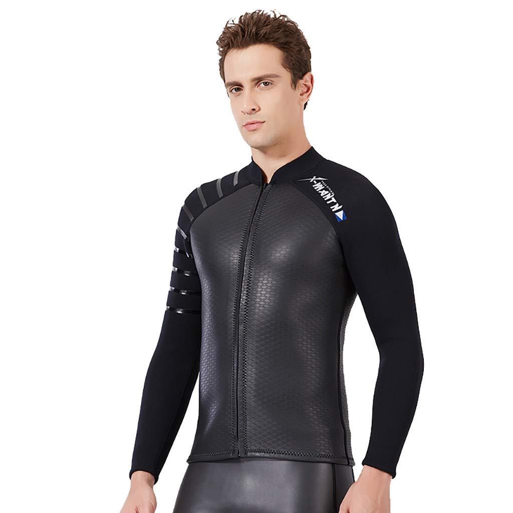 MILIMIEYIK Men's Reactor 3/2mm Back Zip Full Wetsuit Black