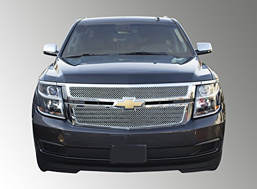 (Fits 15-19 CHEVY SUBURBAN/TAHOE LS/LT (Doesn't FIT LTZ) Chrome ABS GRILLE Insert/Overlay)