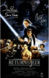 #8: Carrie Fisher 'Princess Leia' / Dave Prowse 'Darth Vader' Dual Signed Star Wars Episode VI: Return Of The Jedi 11x17 Movie Poster Photo..Steiner COA
