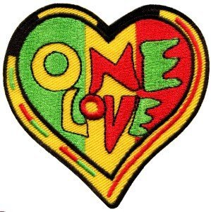 One Love Rasta Judah Flag Reggae Retro Weed Pot Appliques Hat Cap Polo Backpack Clothing Jacket Shirt DIY Embroidered Iron On / Sew On Patch