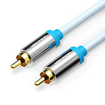 VENTION - Cable de audio RCA a RCA macho a macho estéreo (cable coaxial de