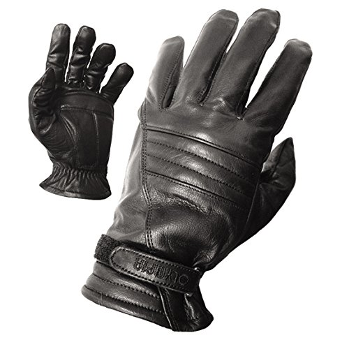 Olympia 400 Gel Classic Motorcycle Gloves (Black, Medium)